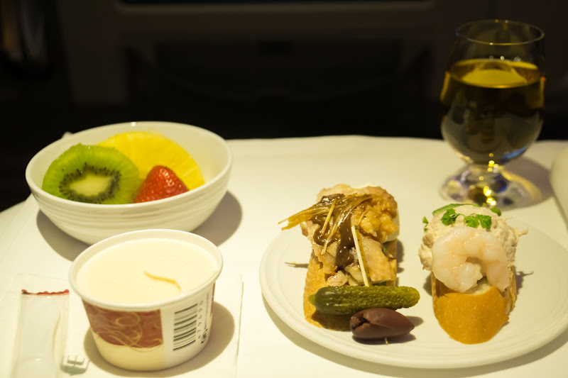 Malaysia airline, dinning, business class 6