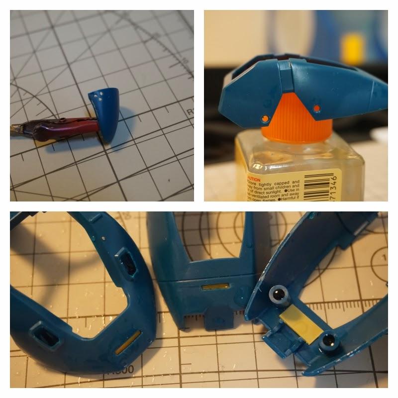 건담 프라모델에 메탈 파츠 삽입을 위한 가공과 개조