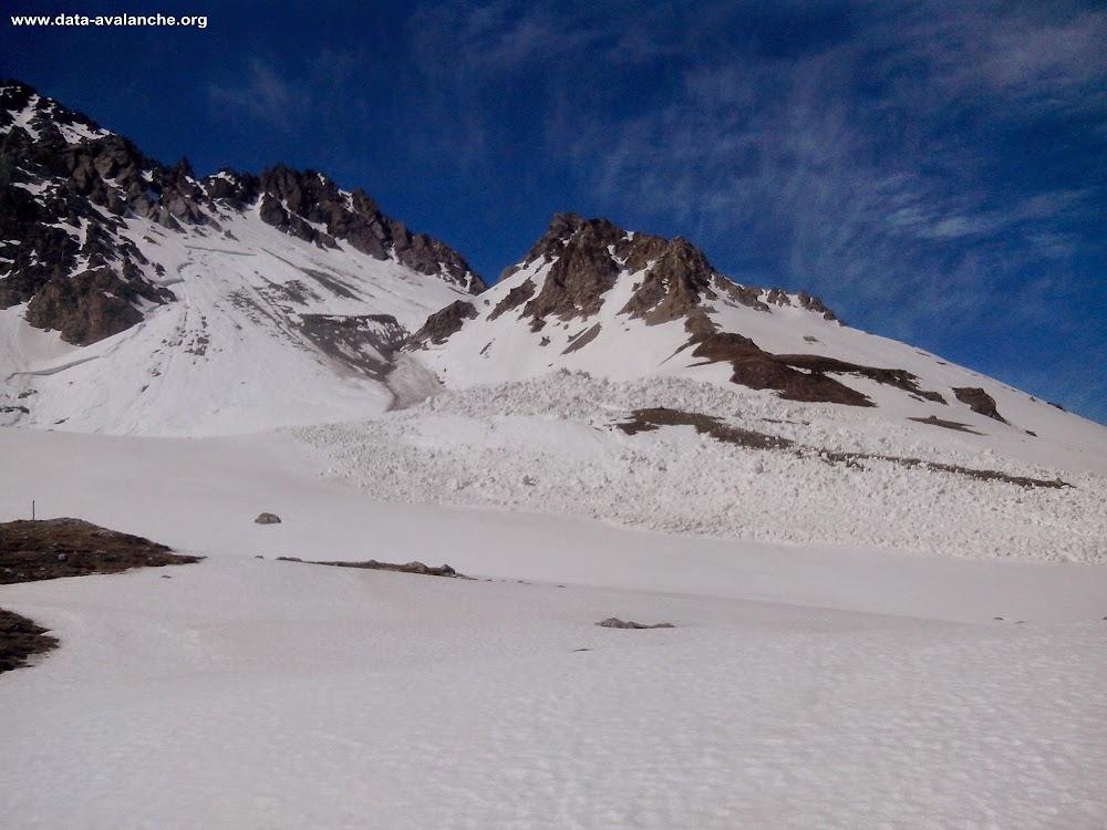 Avalanche Mont Thabor, secteur Col de la Roue, sous les rochers de la Grand Bagna - Photo 1 - © Labauvie Pierre