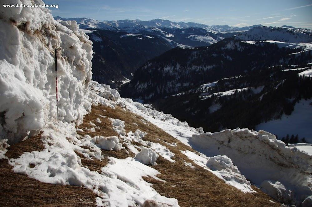Avalanche Aravis, secteur Aiguille de Borderan, Col des Aravis - RD 909 - Photo 1
