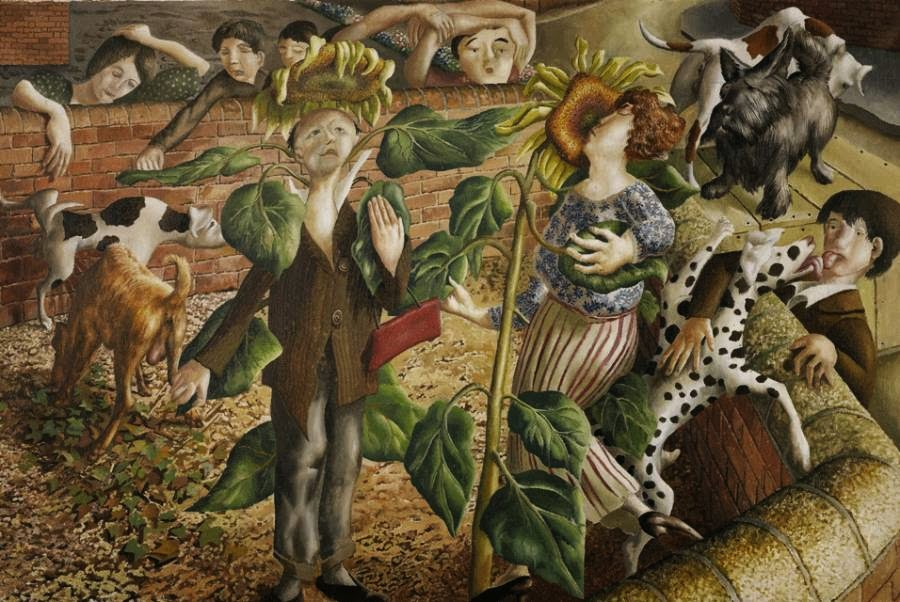Stanley Spencer - Sunflower and Dog Worship
