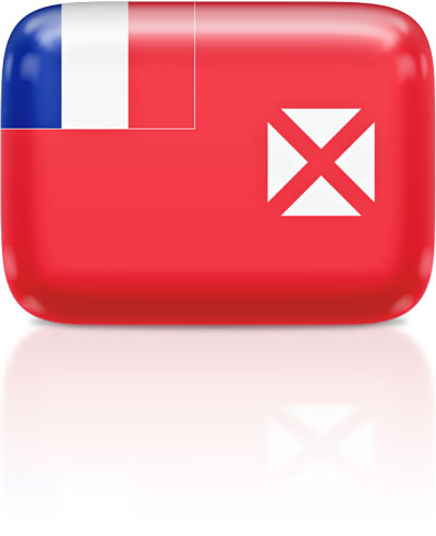 Wallis and Futuna flag clipart rectangular