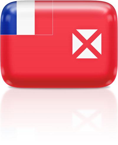 Wallis and Futuna flag clipart rectangular