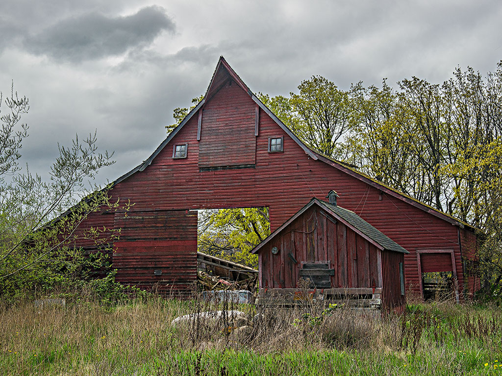 """Collapsed Barn"" by Rich Sherman"