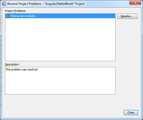 Angular 2 netbeans resolve problems