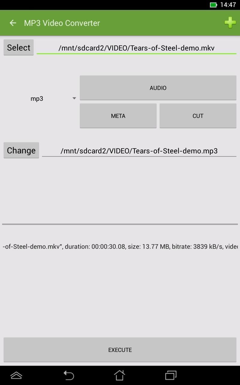 Скриншот mp3 конвертер видео