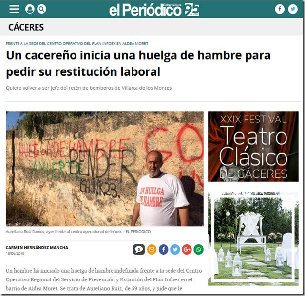 Screenshot-2018-6-19 Un cacereño inicia una huelga de hambre para pedir su restitución laboral