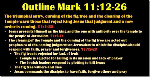 Mark 11.12-26 outline