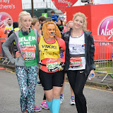 OIC - ENTSIMAGES.COM - Helen George and Aliki Chrysochou at the Virgin London Marathon 2015 in London 26th April 2015  Photo Mobis Photos/OIC 0203 174 1069