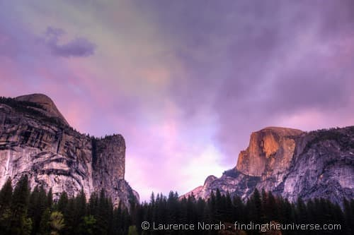 Yosemite sunset half dome