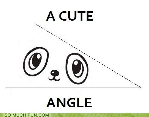 cartoon of an acute angle with a cute face in it