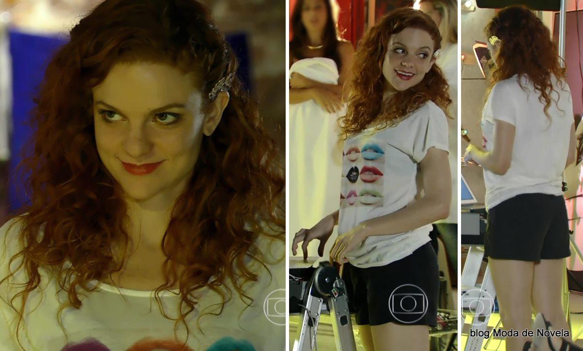 moda da novela Em Família - look da Vanessa dia 8 de maio