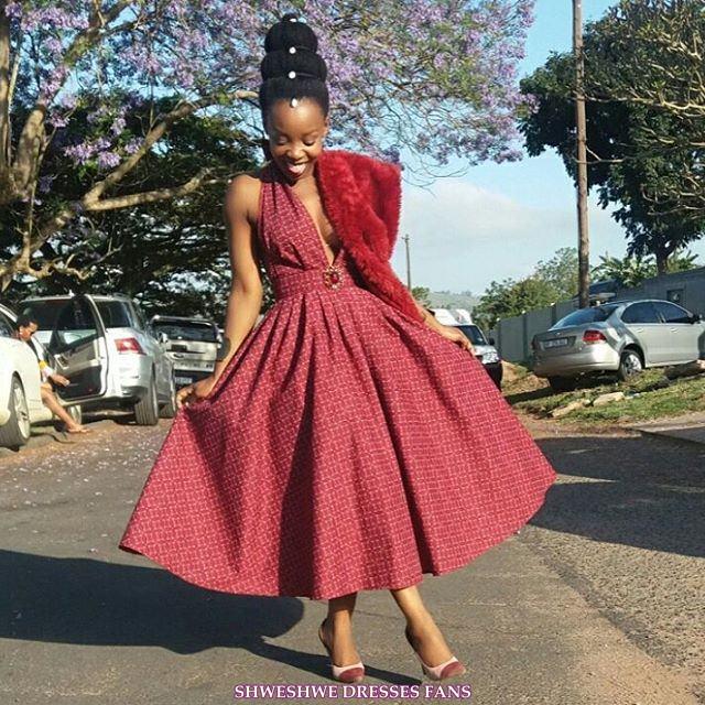 ( 40 Pic ) Shweshwe Dresses Ideas 2018