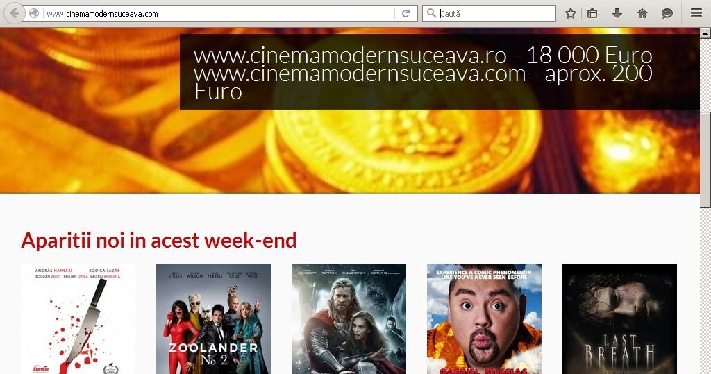 Site pentru Cinematograful Modern, cumpărat cu 200 de euro
