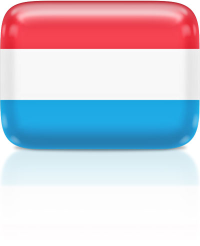 Luxembourgish flag clipart rectangular