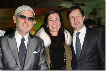 FLORENCE, ITALY - JANUARY 11:  Andrea Panconesi, Francesca Lusini and Dario Nardella attend The Icon Project Peuterey by LUISAVIAROMA on January 11, 2017 in Florence, Italy.  (Photo by Vittorio Zunino Celotto/Getty Images for LUISAVIAROMA)