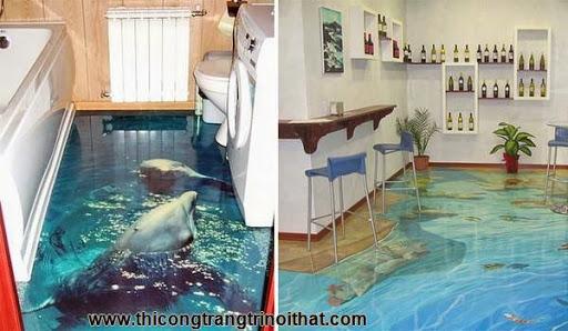 Biến phòng tắm thành đại dương với tranh nghệ thuật 3D đầy ấn tượng - Thi công trang trí nội thất-1
