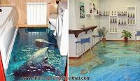 Biến phòng tắm thành đại dương với tranh nghệ thuật 3D đầy ấn tượng - Thi công trang trí nội thất