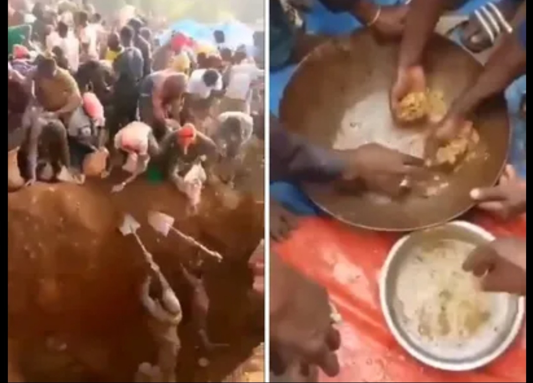 Mountain where soil is '60% to 90%' gold found in Africa, locals rush with shovels