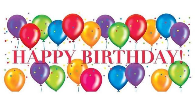 Birthday Balloons with happy birthday