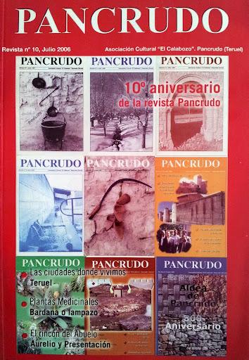 Portada Revista Pancrudo nº10 (2006). Portadas números 1 a 9 de la revista Pancrudo