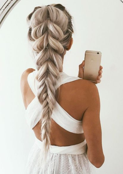 long hair -A collection of ideas for braided hair In 2017 10