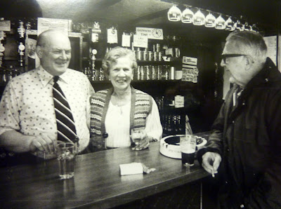Mr and Mrs Goodwin and Jim Critchley at the Plough 1978.
