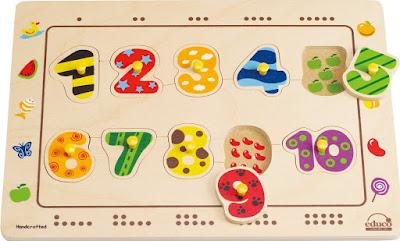 Đồ chơi Ráp hình Số đếm Hape Numbers Matching Puzzle