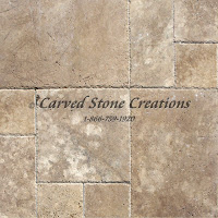 "Tuscany Walnut Travertine Pavers, 12"" x 12"" x 3cm.  Tumbled Fini"