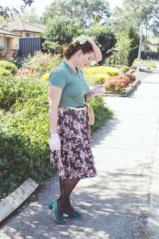 Vintage autumn look with 40s style | Lavender & Twill