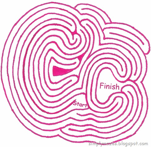 """Maze Number 84: The Letter """"C"""""""