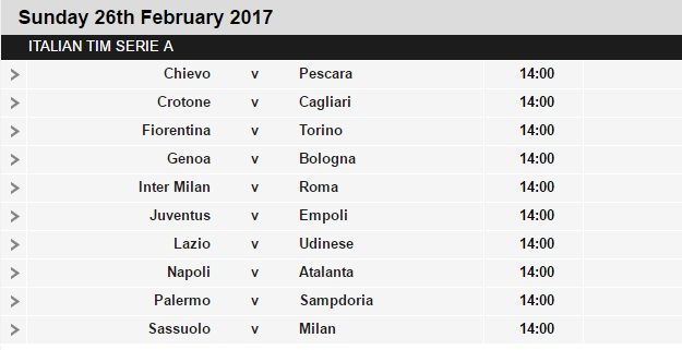 Serie%2BA%2Bschedule%2B26 Planning a Football Trip to Italy - SERIE A FIXTURES 2016/17