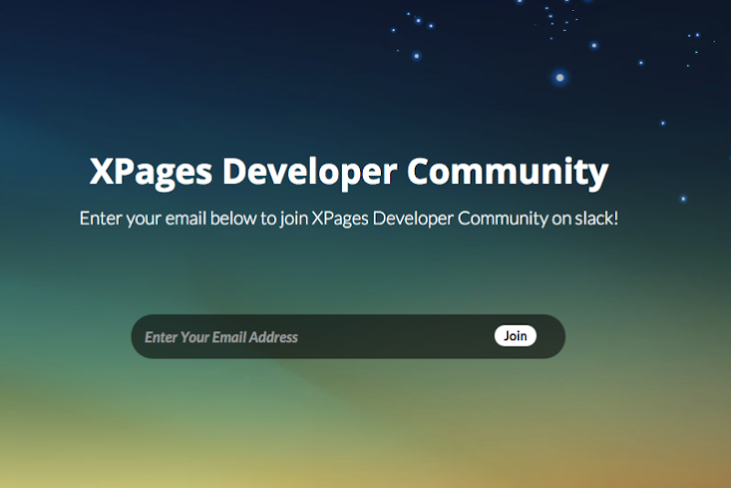 Join the XPages Developer Community community on Slack