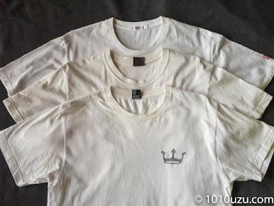全然黄ばみが取れていないプリントTシャツ