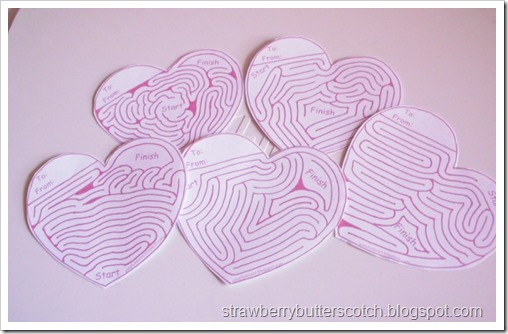 Mazes for Valentine's Day