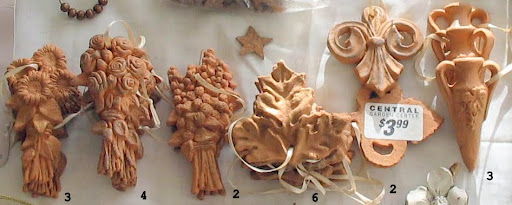 terracotta hangings $2 each  or $35 for all 20 (quantity below)