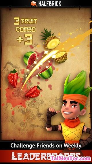 xử sở hoa quả đầy màu sắc trong game Fruit Ninja