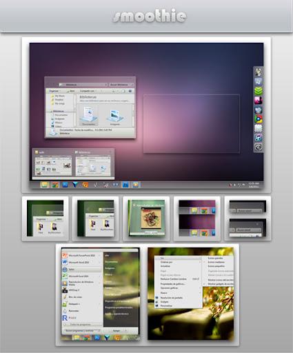 Smoothie Final Theme for Windows 7,smooooth