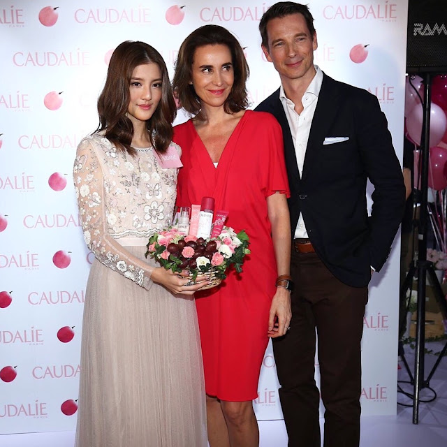 Caudalie - Hong Kong Artist Karena Ng, The founder Mathilde Thomas and Bertrand Thomas