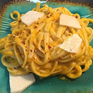 Fettuccine With A Butternut Squash Sauce