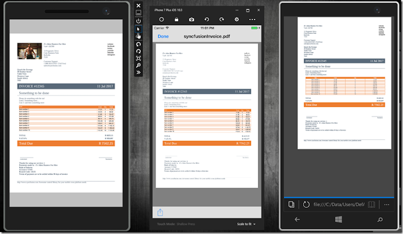 Parsimony: Generate pdf documents for iOS, Android & Windows