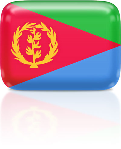 Eritrean flag clipart rectangular