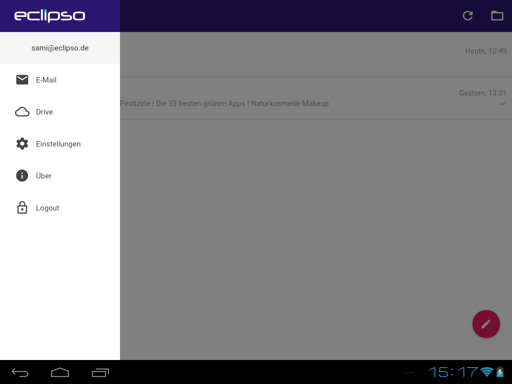 eclipso Mail & Cloud- screenshot