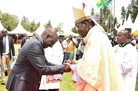 DP William Ruto  During the installation ceremony of Rt. Rev. Alfred Kipkoech arap Rotich as the Bishop of Catholic Diocese of Kericho at Kericho Teachers Training College, Ainamoi Constituency, Kericho County.