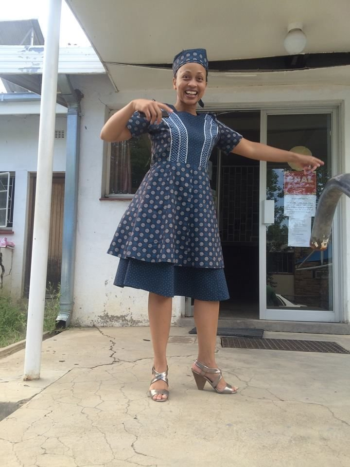 40+ African Trendy Traditional Shweshwe Dresses