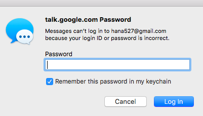 talk google com Password Messages cannot log in because your