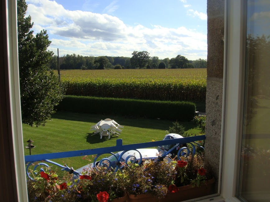 View from the bedroom window of La Petite Chesnee