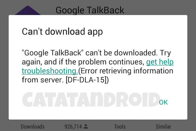 Bagaimana Cara Memperbaiki Fix Google Playstore Error DF-DLA-15 Tidak Bisa Download Aplikasi Maupun Game