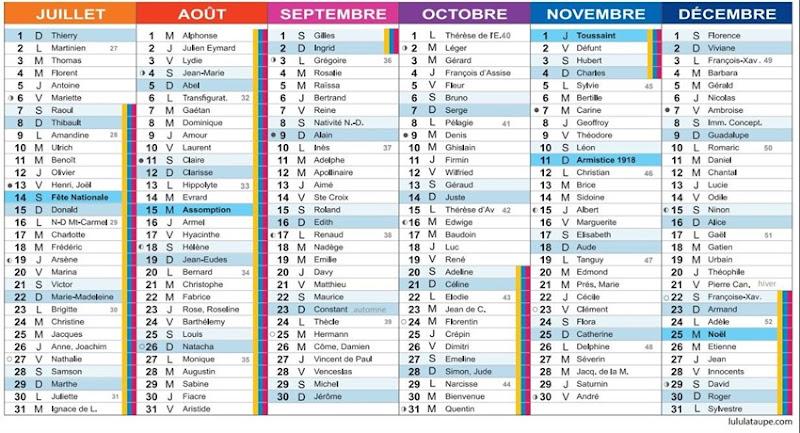 calendrier 2018-2