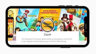 Zapak Games गेम खेलो पैसा जीतो